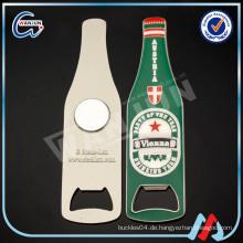 Kühle Bierflaschenform kundenspezifische printint Aufkleber Kühlschrankmagnet Flaschenöffner