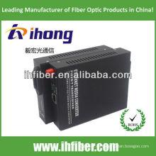 10 / 100M Fibra Óptica Media Converter Singlemode sola fibra puerto FC 20 km