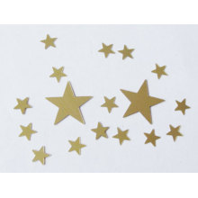 Golden star glitter confetti