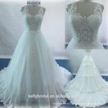 Wedding Dress 2017 Specail High Quality Wedding Dress Straps Applique Wedding Dress Bridal Gown