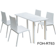 Contemporary Design Fast Food Table and Chair Furniture
