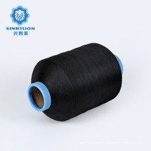 GRS certificate 150/48 Recycled PTY dty polyester texturized twist filament yarn for weaving label