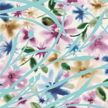 Tela de seda impressa digital chiffon para vestido (xf-0015)