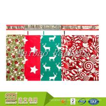 Diseño de encargo al por mayor de la fábrica Impreso Regalo plástico que envía el envío Embalaje Self-Sealing Anuncios publicitarios de la Navidad de Poly