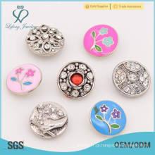 Botões feitos sob encomenda dos botões da imprensa do metal, botão de pressão do metal de 18mm