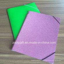 Glitter Paper File Folder Fichier A4 Fichier de poche