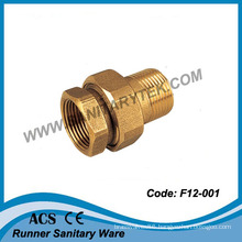 Brass Straight Union in 3 Pieces Fxm (F12-001)