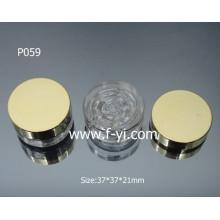 Embossing personalizado Clear Hot Sale Cosmetic Glass Jar