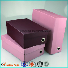 Flat Pack Corrugated Shoe Box Packaging Paper