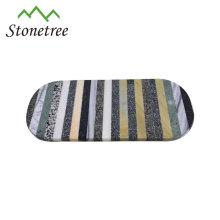 Tabla de corte de mármol del tablero del queso de piedra natural barato vendedor caliente