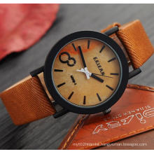 Yxl-858 New Design Simulation Wooden Quartz Men Watches Casual Wooden Color Leather Strap Watch Wood Male Casual Wristwatch