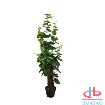Factory Direct Artificial Plants I Rund Keramisk Pot