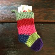 Crochê Natal titulares meias de algodão doce