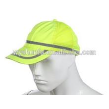 Fluorecent sombrero para los niños tráfico securty, verano reflexivo tapa