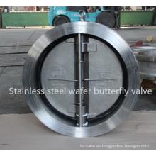 Válvula de retención de doble placa de acero inoxidable
