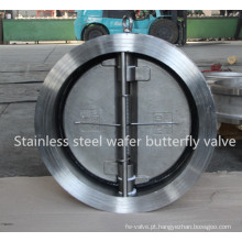 Válvula de retenção de chapa dupla em aço inoxidável