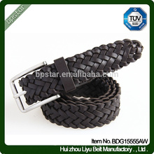 2015 New Style Women Knitted Braided Fashion Leather Belt
