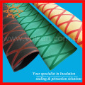 Skidproof Insulation 35mm X-parttern Red & Yellow Heat Shrink Sleeve