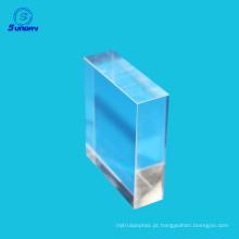 Lente de haste quadrada óptica 1mmx1mm sílica fundida bk7 safira