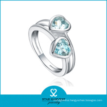 Elegant Crystal 925 Sterling Silver Ring with CZ (R-0360)