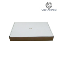 White cardboard corrugated gold stamping box