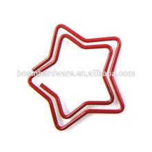 Мода Высокое качество металла Star Shaped скрепки для бумаг