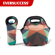 Insulated Neoprene Lunch Set Lunch Bag + Water Bottle Sleeve | Lightweight With Zipper