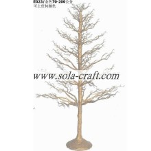 200CM Gold Color Potted PE Plastic Christmas Tree Table Centerpiece
