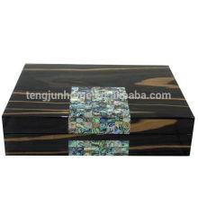 Home Decor Boîte à bijoux en bois avec MOP noir