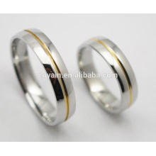 Venta al por mayor de parejas 316L anillo de boda de acero inoxidable