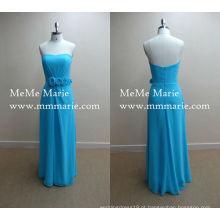 Pavão Blue Sweetheart Evening Dresses Vestido de festa de Turquia com Chiffon BYE-14007