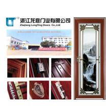 Puertas abatibles de aluminio de baño popular