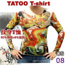 2016 neue Design Tattoo T-Shirt Spitze Tattoo legging