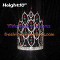 10inch Spike Pageant Crowns With Red And Green Diamond