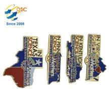 Heiße Art Souvenir weiche Emaille benutzerdefinierte Metall Anstecknadel