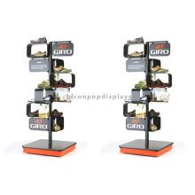 Madeira Base Metal Footwear Shop Fittings Display Rack, Free Standing Men's Shoes Sandal Display Rack