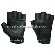 Leather fitness gloves for weight lifing