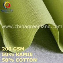 Cotton Ramie Solid Plain Fabric for Clothes Garment (GLLML453)