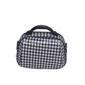 Houndstooth Travel Cosmetic Bag