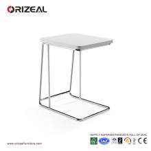 Mesa auxiliar pequeña moderna blanca Orizeal para dormitorio (OZ-OTB007)
