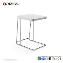 Orizeal Small Modern White Side Table for Bedroom (OZ-OTB007)