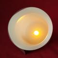 Schöne weiche orange Glow Light LED Stumpenkerze mit echtem Wachs