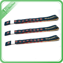Custom Cheap Price Polyester Woven Wristband for Event