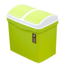 Secousse de haute qualité bon marché double classent la poubelle en plastique