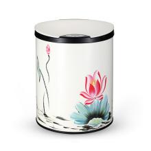 Kit de lixo de sensor de aço inoxidável de design elegante de flores (YW004)