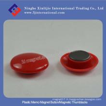 Bouton Magnet Monnaie Plastique / Brochettes Magnétiques