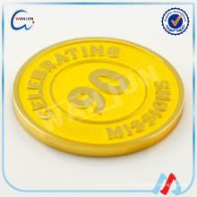 ПРАЗДНОВАНИЕ 90 МИССИЙ заказная металлическая сувенирная золотая монета
