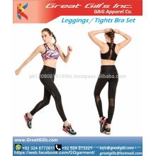 Yoga sports girl tube sexy bra and leggings Custom made tights