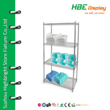 Chromed boutique display shelf medicine display shelf