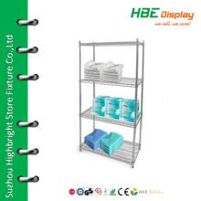 Prateleira de exibição de medicamentos em prateleira de exposição cromada cromada